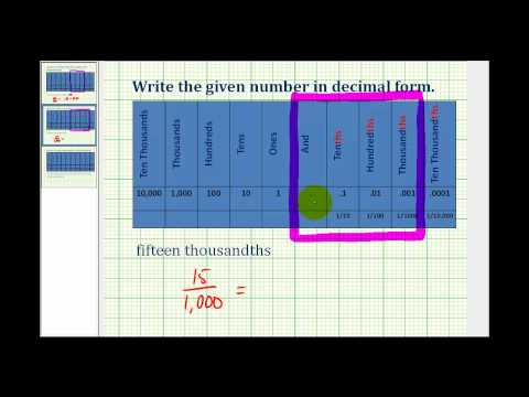 Write a Number in Decimal Notation from Words