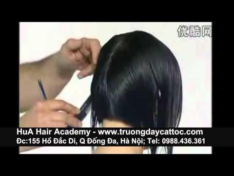 Học cắt tóc đầu bob nữ, học cắt tóc ngắn phần 2 -www.truongdaycattoc.com