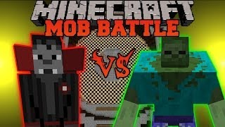 Mutant Zombie Vs. Vampire Overlord Minecraft Mob Battles
