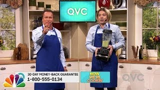 Arnold Schwarzenegger Appears on the QVC Shopping Channel