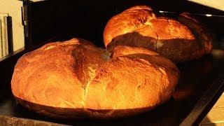 Pan casero al horno a leña