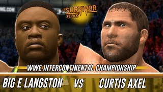 WWE 2K14 Survivor Series: Big E Langston Vs Curtis Axel