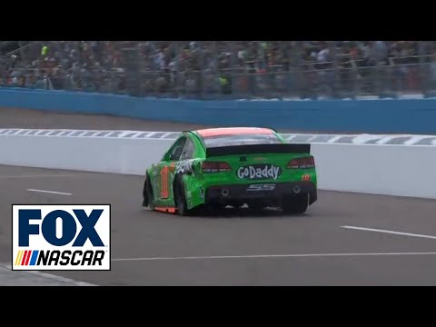 Danica Patrick and Justin Allgaier Crash @ 2014 CNBC 500
