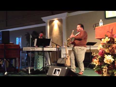 Art Martinez playing oh when the saints on the sax