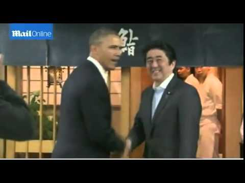 Obama dines at $300 underground sushi restaurant with Japanese PM