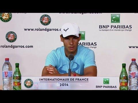 Conférence de presse Rafael Nadal Roland Garros 2014 1/2