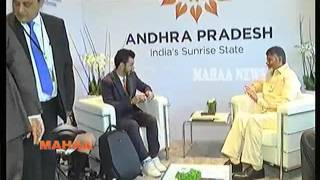 AP CM Chandrababu meets Microsoft CEO Sathya Nadella..
