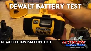 Dewalt Li-Ion battery versus Ni-Cad