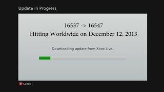 Xbox 360 Dashboard 16547 (December 2013) Info & Updates