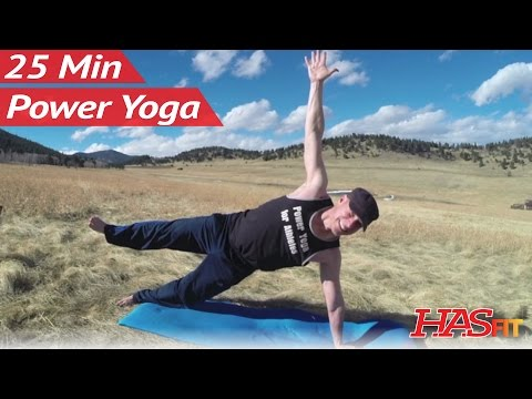 25 Minute Yoga Strength Workout w/ Sean Vigue - Power Yoga Workouts for Men & Women Yoga Exercises