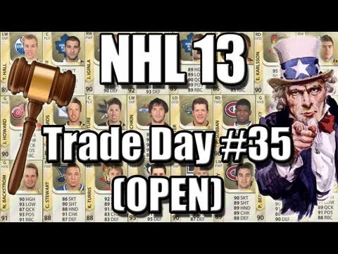 NHL 13 HUT - Trade Block #35 - May 23rd, 3:45pm EST