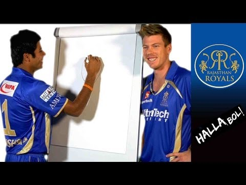 RR ART: Amit Mishra draws James Faulkner
