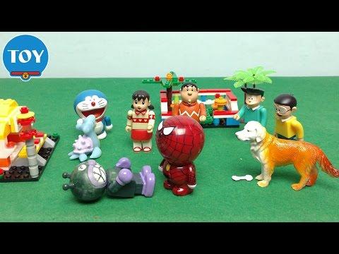 Doremon bắt Pokemon tập 2 ✔ Người nhện giải cứu bé rùa Rapurasu - hoạt hình doremon chế đồ ch