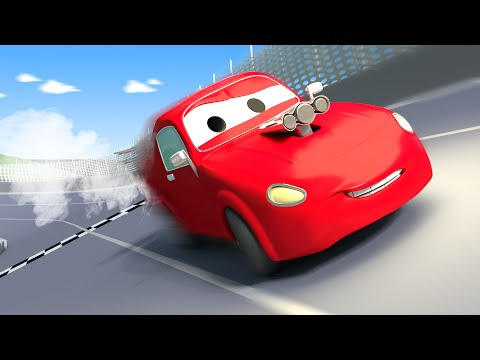 Odťahovák Tom a pretekárske auto