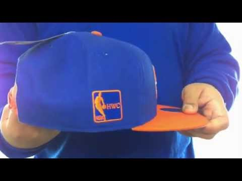 Knicks 'SURE-SHOT SNAPBACK' Royal-Orange Hat by Twins 47 Brand