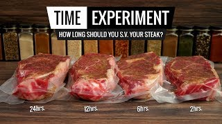 Sous Vide Steak TIME EXPERIMENT - How long should you cook your STEAK?