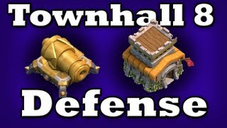 Clash Of Clans Town Hall Level 8 Defense!