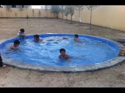 How to build small swimming pool youtube for Diy small pool