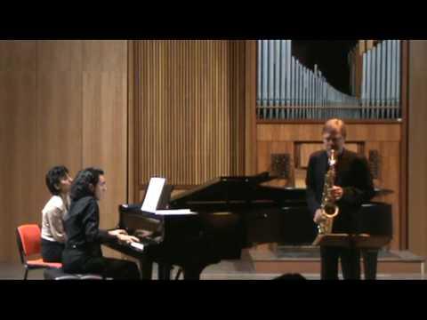 HINDEMITH Sonata for sax and piano – part I