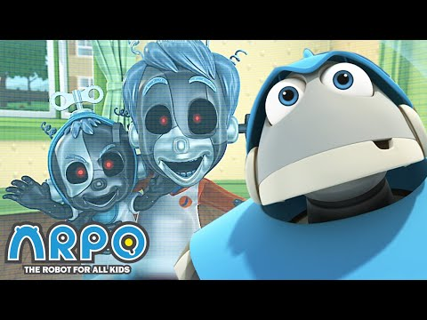 Arpo the Robot | Scary Kids! | Best Moments | Funny Cartoons for Kids | Arpo and Daniel