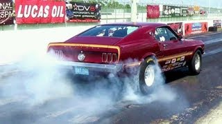American Muscle Cars Revs Tire Burnout Hard Acceleration
