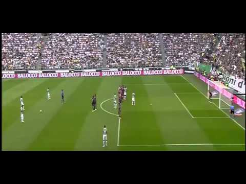 Juventus vs Cagliari 1- 0  Pirlo Amazing FreeKick 18 05 2014