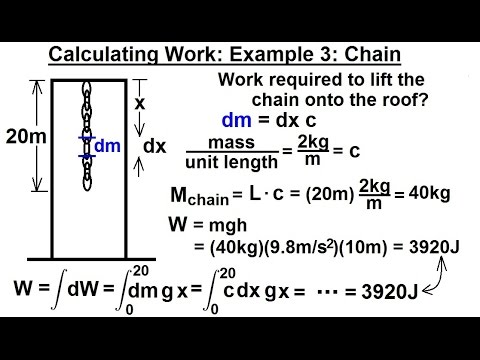 Calculus 2: Apllications - Calculating Work (4 of 16) Calculating Work Example 3: Chain