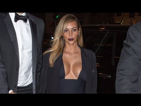 Kim Kardashian Wears Sexy Revealing Dress to End Paris Fashion Week | POPSUGAR News