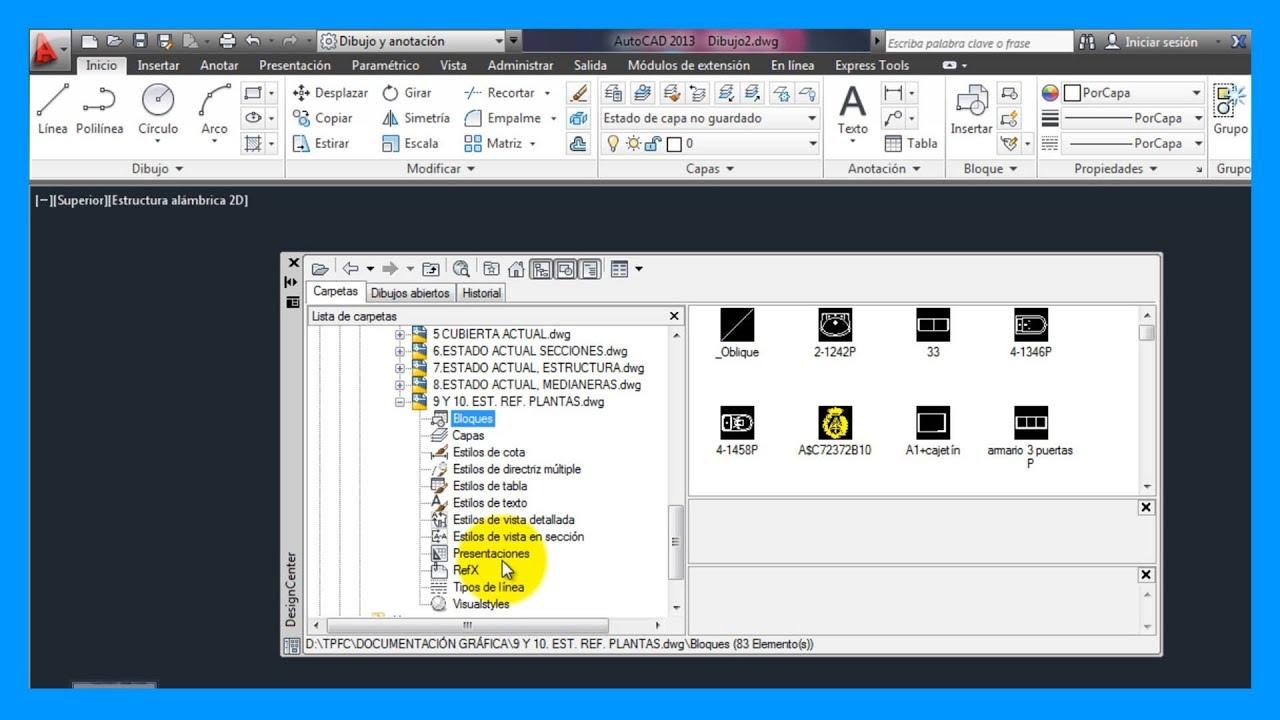 Autocad importar cotas bloques capas de otro for Archivos de cad