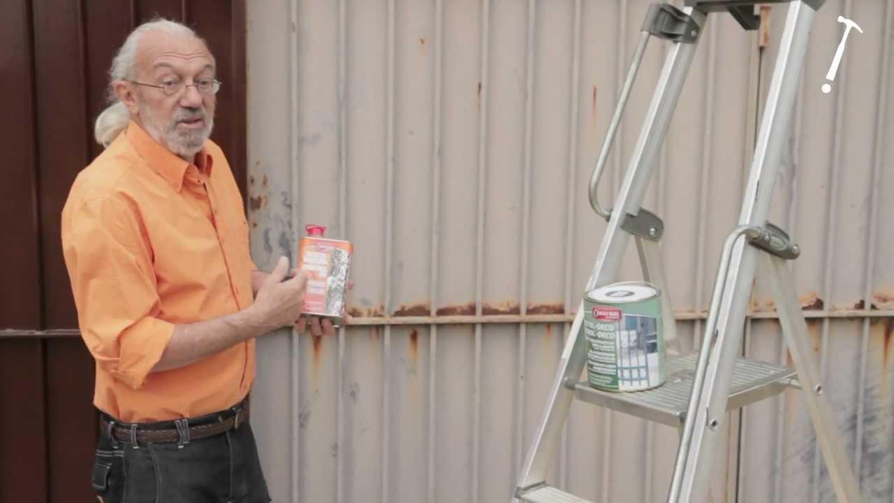 R nover un portail rouill bricolage avec robert youtube for Peindre portail fer