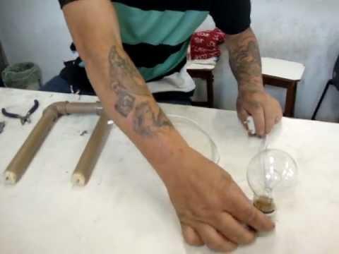 Maquina de cortar isopor caseira com prof. Maurici