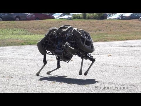 Boston Dynamics - WildCat Robot Sprinting Tests Reached Speed Of 16 mph (26 km/h) [1080p]