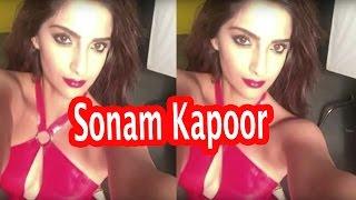 Sonam Kapoor, Bollywood News, Hot Heroine, Selfie Photo, Red Dress, Neerja Movie