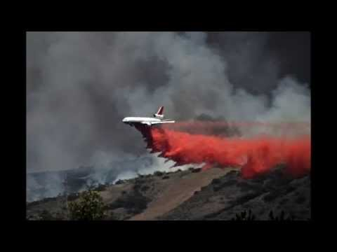 New California Wild Fires Aerial Firefighting 2014