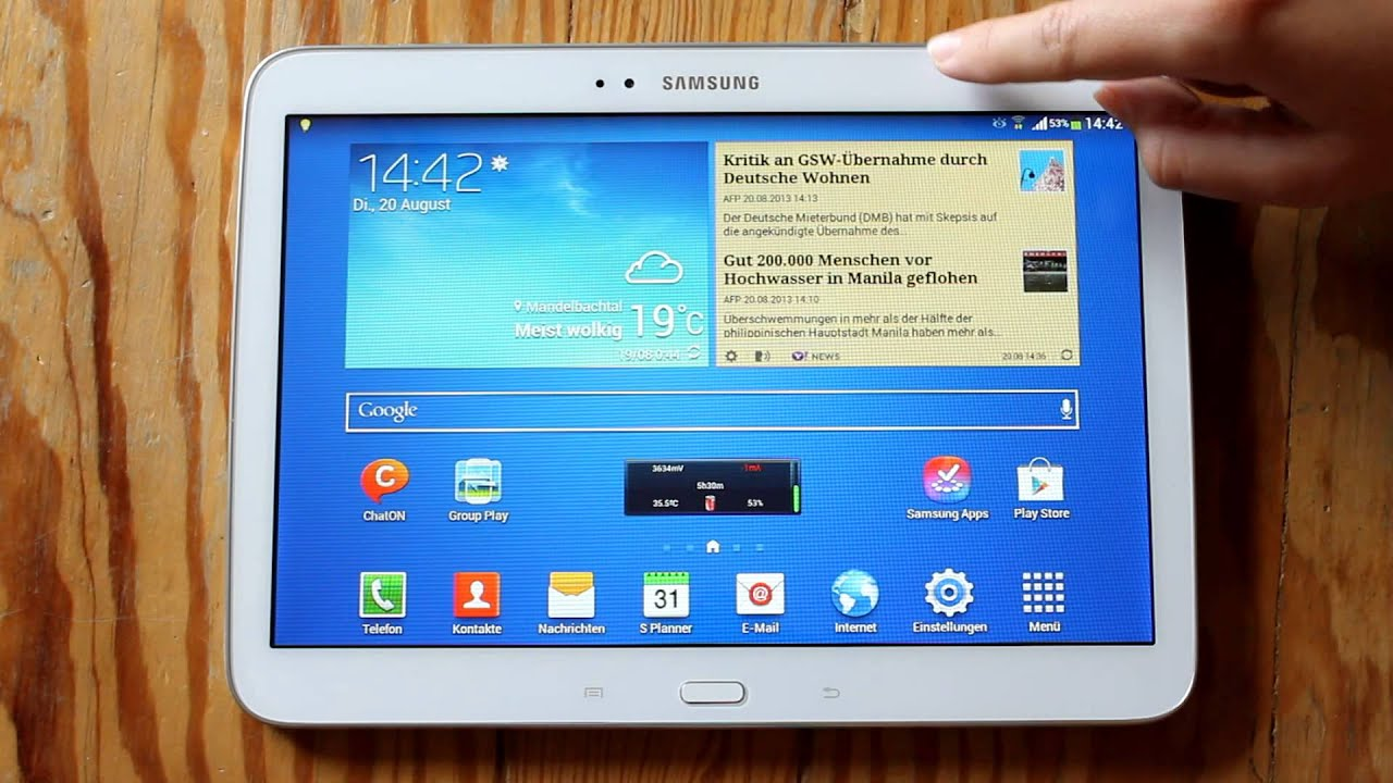 samsung galaxy tab 3 10 1 interface and speed demo   youtube