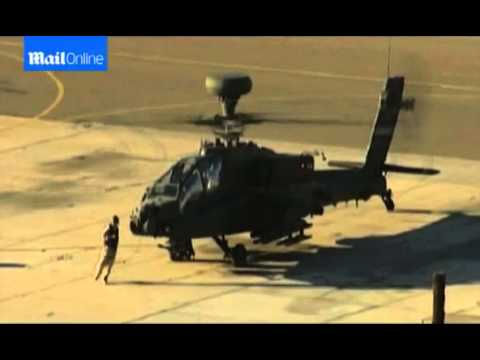 Prince Harry flies an Apache helicopter in California in 2012