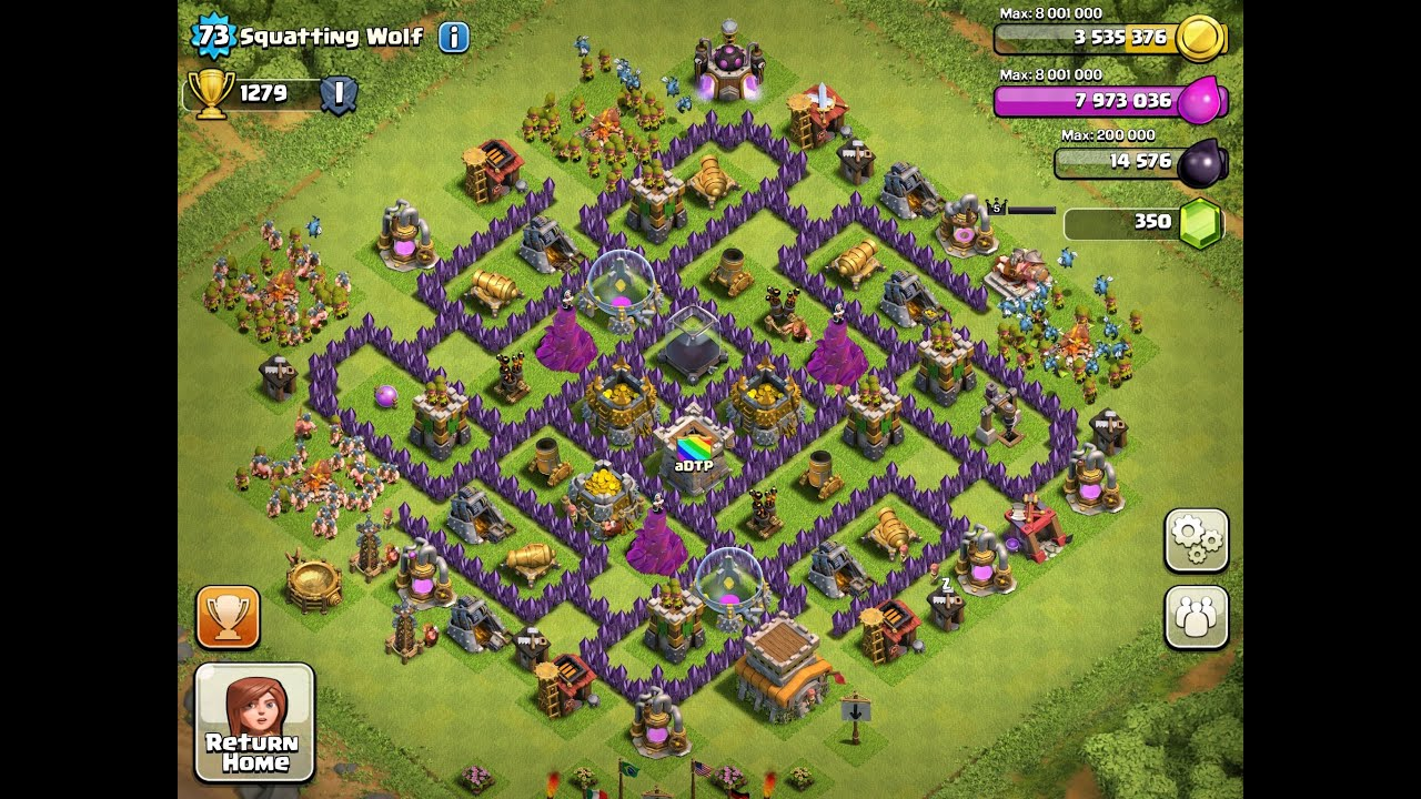 Top 3 Town Hall 8 Farming Bases! - Clash Of Clans - YouTube