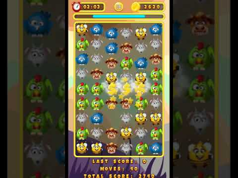 Funny Animals Match 3 try play - puzzle games