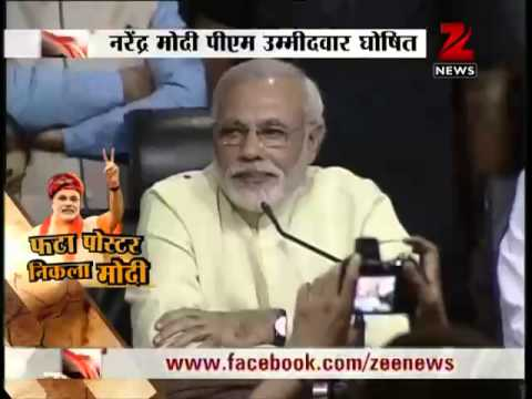 Gujarat CM Narendra Modi is BJP's PM candidate for 2014 Lok Sabha polls