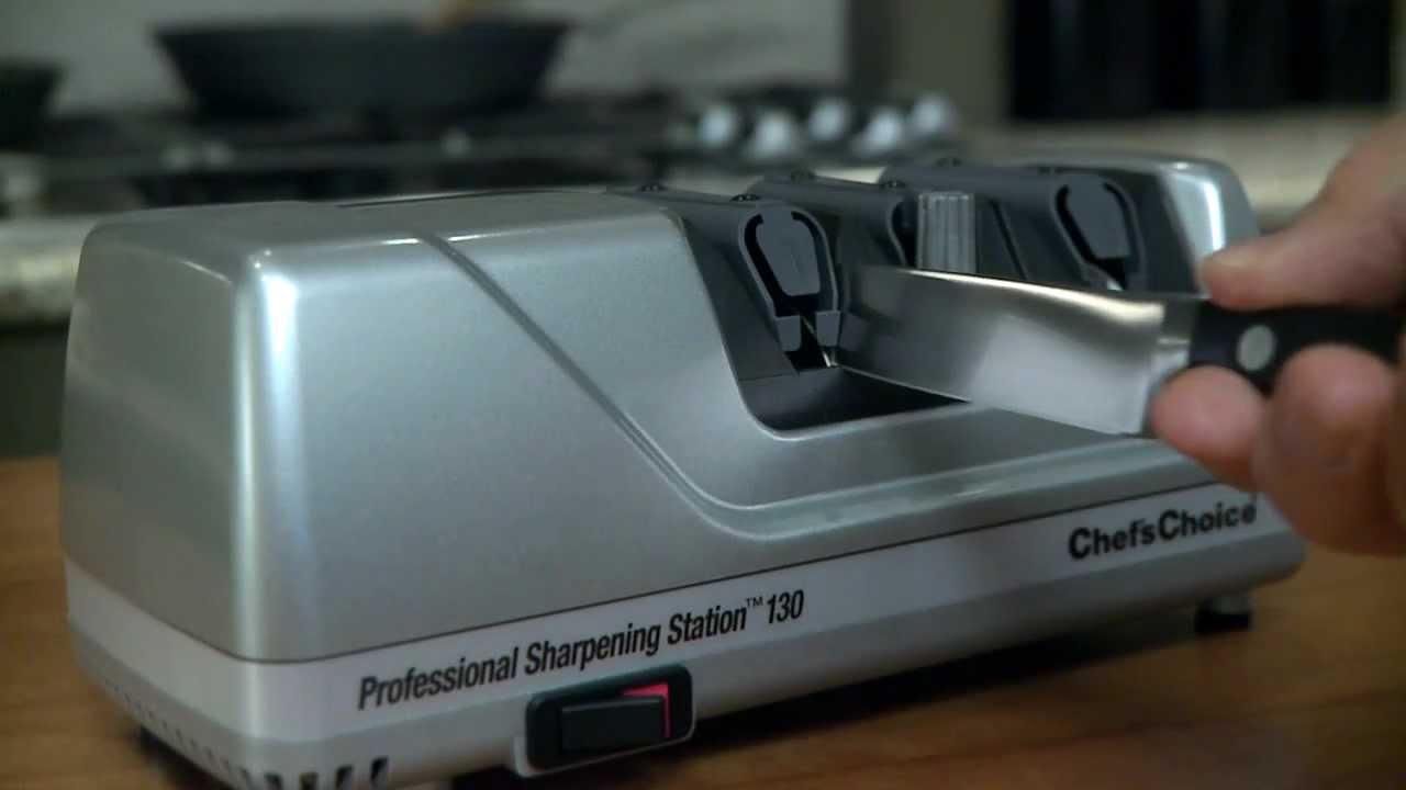chef 39 s choice model 130 knife sharpening station youtube. Black Bedroom Furniture Sets. Home Design Ideas