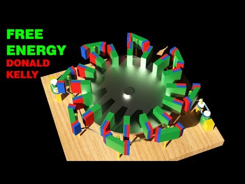 Free Energy Generator, DONALD KELLY Magnetic Wheel Drive
