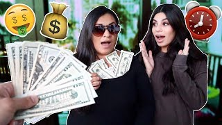GIVING MY MOM $100 EVERY 10 MINUTES...