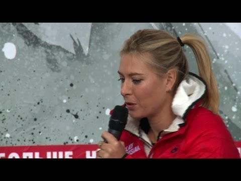Sharapova returns to childhood tennis court in Sochi