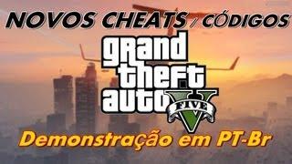 GTA V NOVOS CÓDIGOS / Cheats [Demonstração] PS3