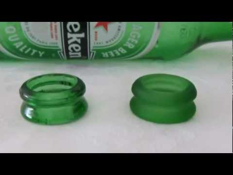 Earrings made out of a nozzle of a bottle 1 recycled for Glasses made out of bottles