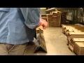 Pliegue de tabiques de cartón en plegadora 1ª versión