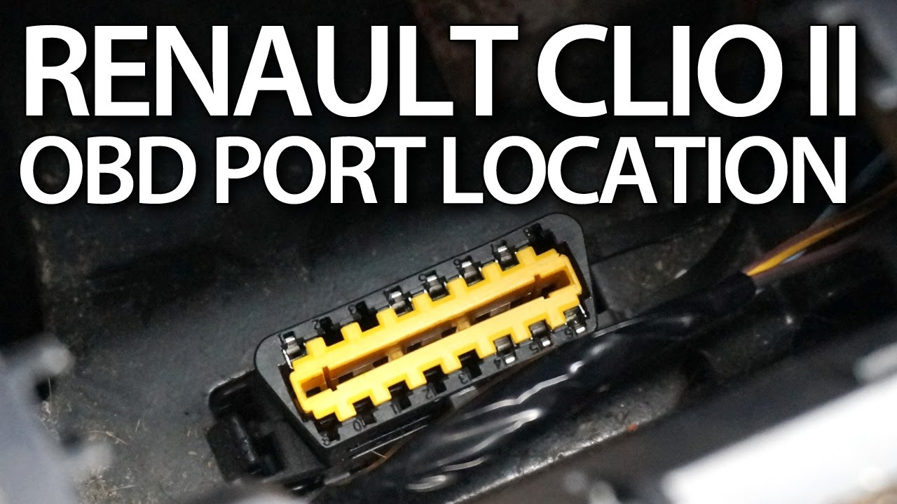 Where Is Obd Port In Renault Clio Ii Thalia Symbol