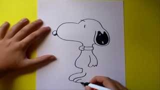 Dibujar a Snoopy