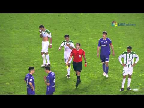 VIDEO: Watch Ghana goalkeeper Razak Brimah being sent off for dragging down striker in Spain