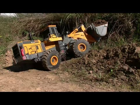 BIG RC CONSTRUCTION SIDE,HEAVY RC MACHINES, RC TIPPER AND WHEEL LOADER WORK ON MINE